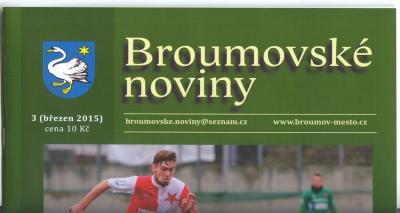 Broumovské noviny - březen: Devět textů o naší škole