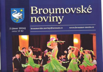 Broumovské noviny: Dvojstrana o našem gymnáziu