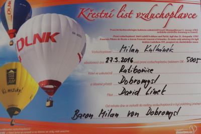 Milan Kulhánek: Oktávo, děkuji za let balónem - podrobnosti na facebooku