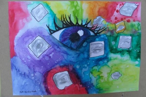 Výstava výtvarných prací našich studentů ve 2.patře budovy