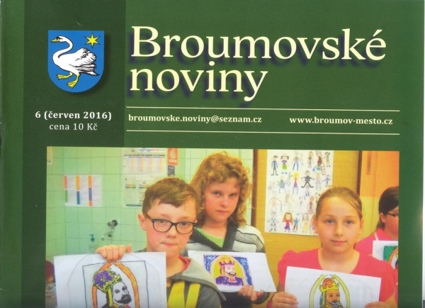 Nové číslo Broumovských novin v prodeji - dvojstrana věnovaná našemu gymnáziu