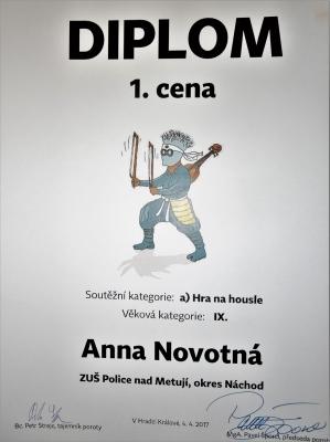 Další výrazný úspěch Anny Novotné