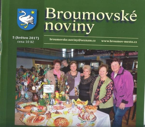 Broumovské noviny: Květnové číslo s významnou gymnaziální stopou