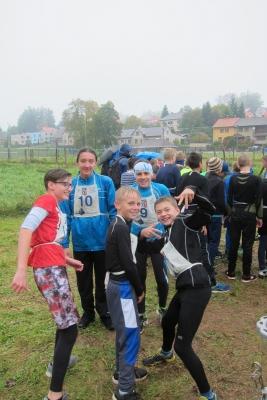 Krajské kolo - přespolní běh družstev:  Starší žáci na 4.místě