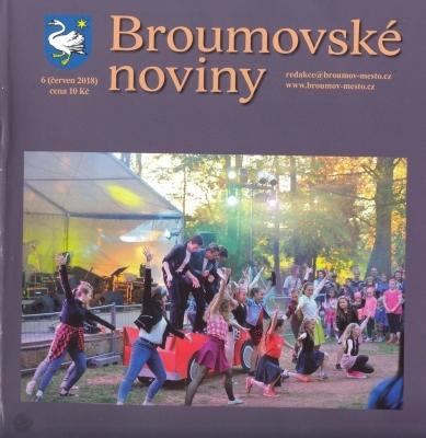 Červnové Broumovské noviny: Dvoustrana věnovaná naší škole