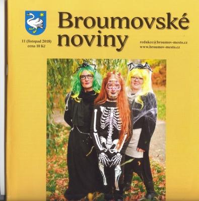 V prodeji jsou listopadové Broumovské noviny s výraznou gymnaziální stopou