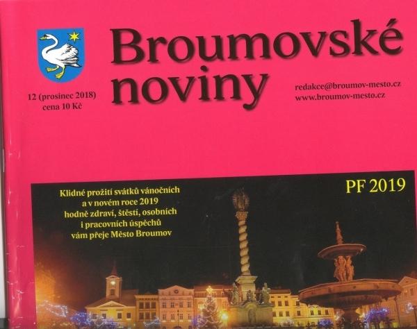Prosincové Broumovské noviny jako tradičně s aktualitami z naší školy