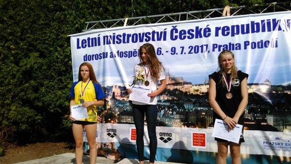 Studují na gymnáziu: Anežka Rožnovská, medailistka z plaveckých šampionátů