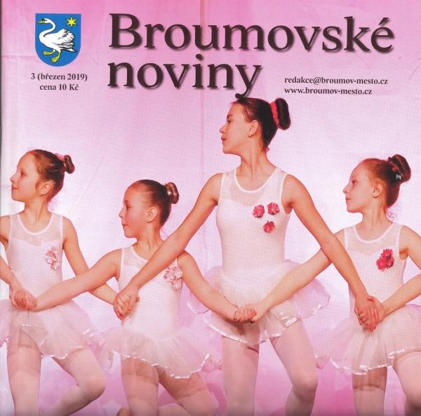 Broumovské noviny - březen: Tři strany věnované gymnáziu