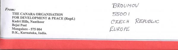Pro primu: Dorazil dopis od indického chlapce Arwina
