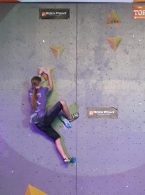 Studují na gymnáziu: Michaela Hornychová -  špičková lezkyně