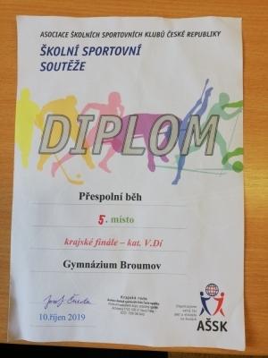 Přespolní běh - krajské kolo: Obě naše družstva na slušném 5.místě