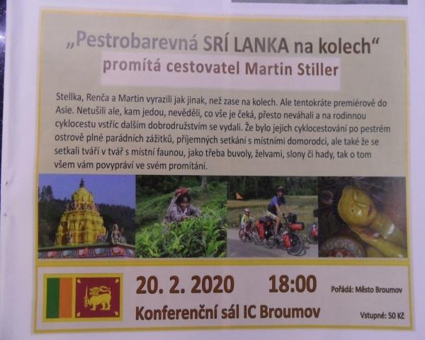 Martin Stiller bude vyprávět o cestě na Srí Lanku