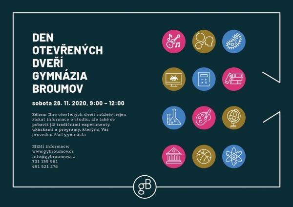 Sobota 28.listopadu: Den otevřených dveří Gymnázia Broumov v upravené podobě