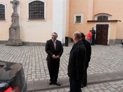Ministr školství navštívil naše gymnázium -poděkování studentům