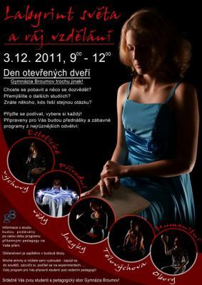 Den otevřených dveří Gymnázia Broumov- sobota 3.prosince- Labyrint světa a ráj vzdělání