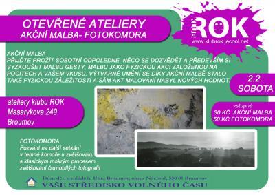 Klub ROK - akční malba - fotokomora - 2.2.2013