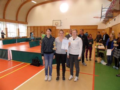 Krajské kolo ve stolním tenise - bronzová medaile