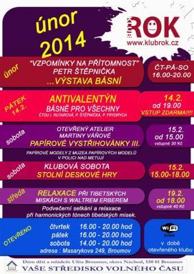 Studentský klub ROK - program na únor