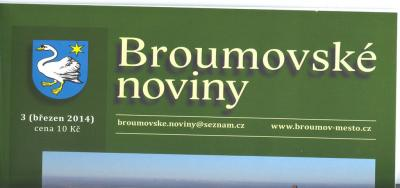 Psali o nás: Broumovské noviny číslo 3