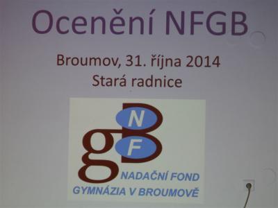 Ocenění Nadačního fondu Gymnázia Broumov