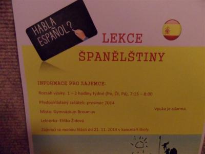 Od prosince na naší škole španělština