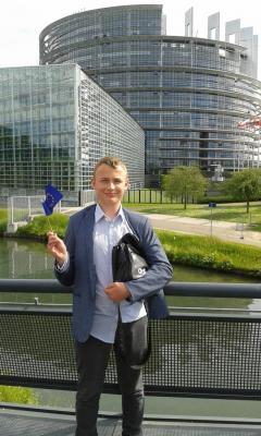 Štěpán Chládek v sídle Evropské unie