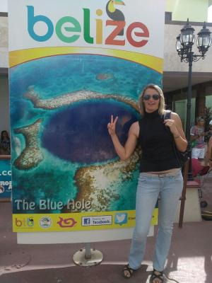 Lucie Machová zdraví z Belize