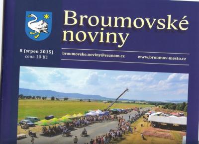 Psali o nás: Broumovské noviny - srpnové číslo