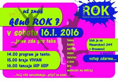 Studentský klub ROK: Nové akce pro vás