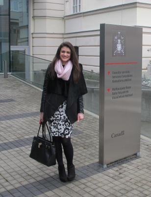 Adriana Trejtnarová: Stáž na Velvyslanectví Kanady