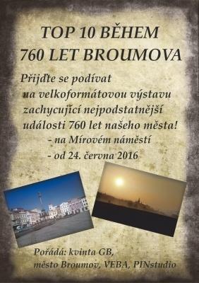 """TOP 10"" BĚHEM 760 LET BROUMOVA"