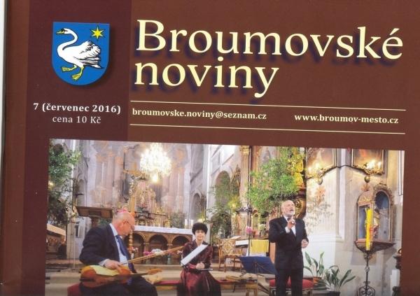 Broumovské noviny: Čtyři texty ze života naší školy