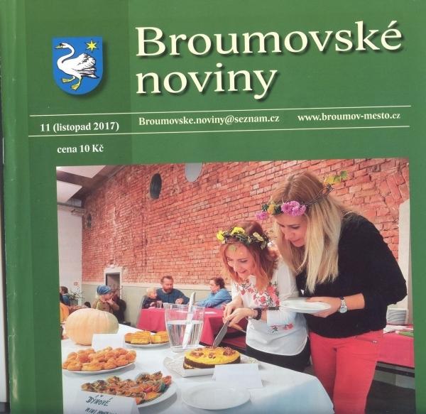 Broumovské noviny - listopadové číslo: Šest textů o našem gymnáziu