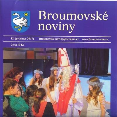Prosincové Broumovské noviny s výraznou gymnaziální stopou