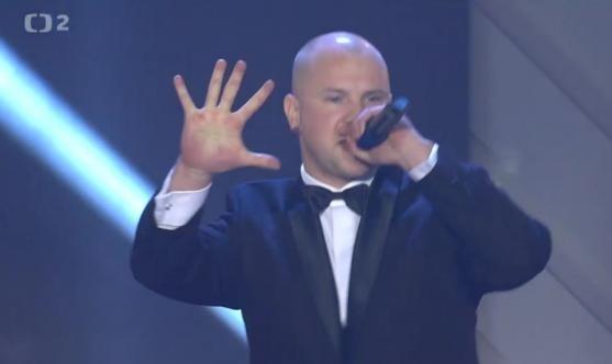 Rapper Peca se vrací - vystoupil na galavečeru Slávie Praha