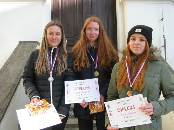 Lyžařský kurz 1.ročníku a kvinty: Výsledky závodů