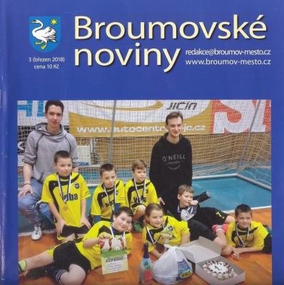 Velmi výrazná gymnaziální stopa v nových březnových Broumovských novinách