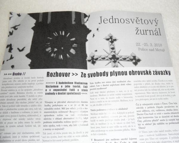 Jednosvětový žurnál - noviny v režii našich studentů