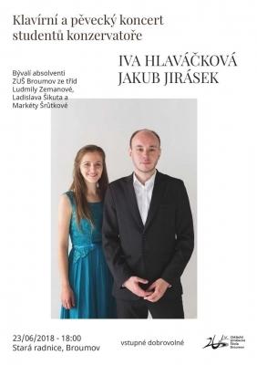 Maturanti z roku 2013 Iva Hlaváčková a Jakub Jirásek: Koncert na Staré radnici