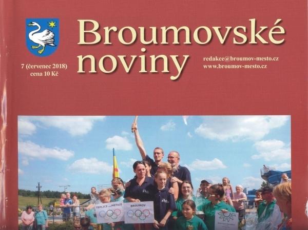 Červencové Broumovské noviny: Dvojstrana věnovaná našemu gymnáziu