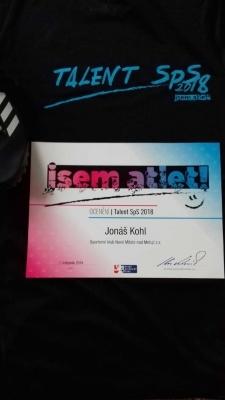 Studují na gymnáziu: Tercián Jonáš Kohl, talentovaný atlet