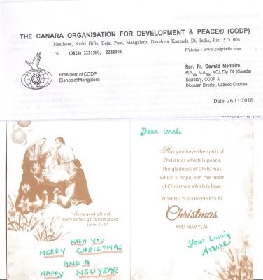 Vánoční blahopřání z Indie