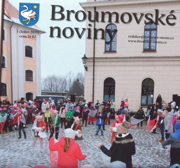 Broumovské noviny - lednové číslo: Dvojstrana věnovaná gymnáziu + ještě něco navíc