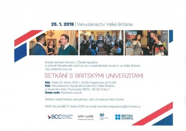 Šance pro podnikavé studenty: Setkání s britskými univerzitami
