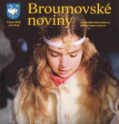 Broumovské noviny: Únorové číslo s dvojstranou věnovanou gymnáziu