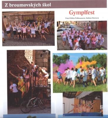 I srpnové Broumovské noviny se věnují našemu gymnáziu