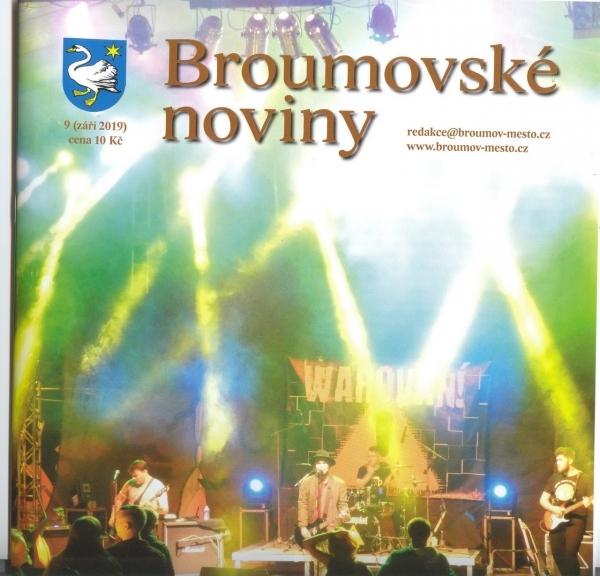 Broumovské noviny - nepřehlédněte stranu 10 a 11 věnovanou naší škole