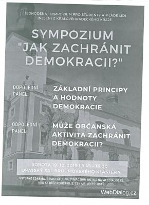 Sympozium Jak zachránit demokracii