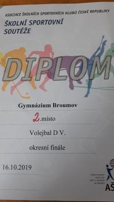 Okresní kolo volejbalu dívek: Obhájené 2.místo